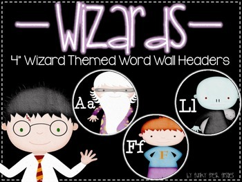 Wizard Themed Word Wall Headers