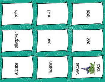 Wizard Toad Math Card Game--Match Operation Clues