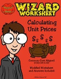 Wizard Worksheet - Calculating Unit Prices
