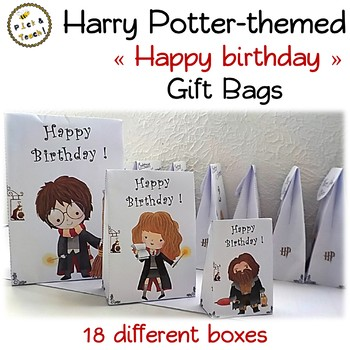 18 Gift Boxes For Harry Potter Fans Happy Birthday By Pickn Teach