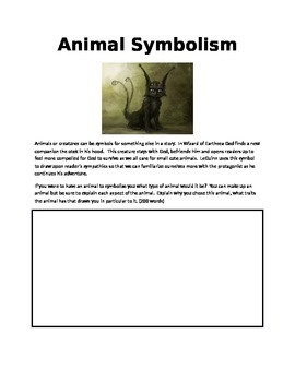 Wizard of Earthsea symbolism worksheet