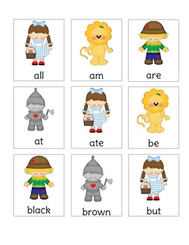 Wizard of OZ Dolch Primer Sight Word Game