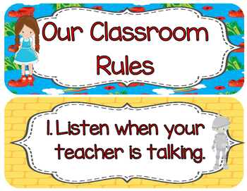 Wizard of OZ classroom rules, Whole Brain