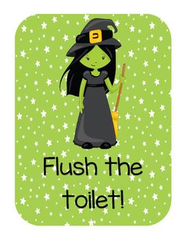 Wizard of OZ restroom posters