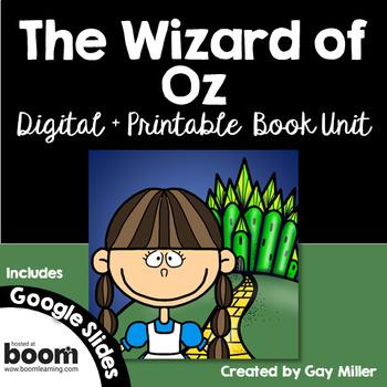 Wizard of Oz Novel Study: vocabulary, comprehension, writing, skills