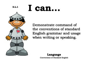 Wizard of Oz 2nd grade English Common core standards posters
