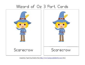 Wizard of Oz 3 Part Cards -- Montessori