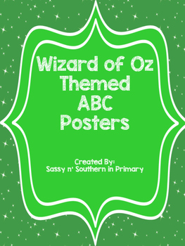 Wizard of Oz ABC Posters (Emerald City Green)