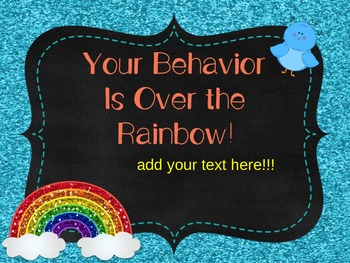 Wizard of Oz Behavior Clip Chart Editable