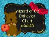 Wizard of Oz Behavior Clip Chart Editable
