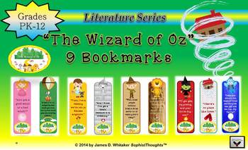 Wizard of Oz Bookmarks