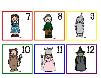 Wizard of Oz Calendar Pieces