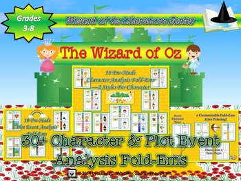 Wizard of Oz Character & Plot Event Analysis Fold-Ems