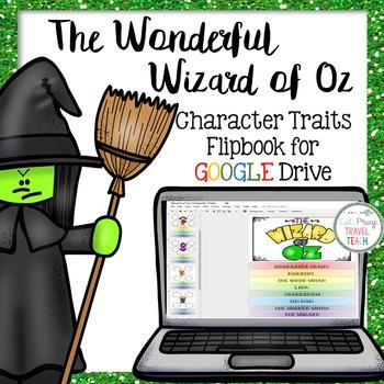 The Wonderful Wizard of Oz Digital Character Traits Flipbook