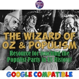 Wizard of Oz Characters and the Populist Party Worksheet