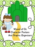 Wizard of Oz Chevron Character Posters and Graphic Organizers