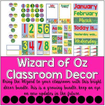 Wizard of Oz Classroom Decor Bundle