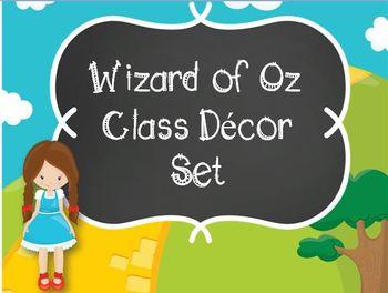 Wizard of Oz Classroom Decor-Editable!