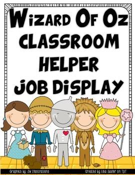 Wizard of Oz Classroom Helper-Job Display