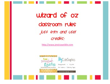 Wizard of Oz Classroom Rules