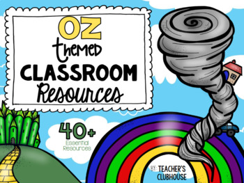 Wizard of Oz Classroom Theme Decor Pack