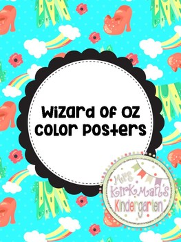 Wizard of Oz- Color Posters
