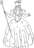 Wizard of Oz Coloring Sheet - Glinda