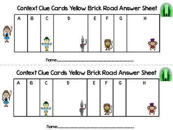 Wizard of Oz Context Clue Cards