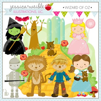 Wizard of Oz Cute Digital Clipart, Dorothy Clip Art, Yellow Brick Road