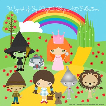Wizard of Oz Digital Clipart, clip art collection