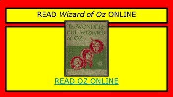 ELEMENTS OF LITERATURE: WIZARD OF OZ  Interactive Unit/ Movie and Novel Guide