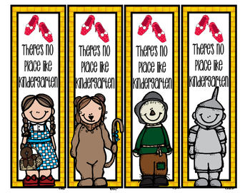 Wizard of Oz Grade Level Bookmarks - 8 Designs PreK-6th