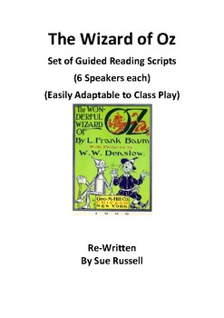 Wizard of Oz Guided Reading Scripts or Readers Theater