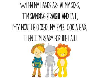Wizard of Oz Hallway Poems