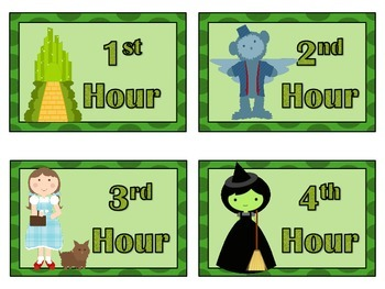 Wizard of Oz Hour and Group Number Labels