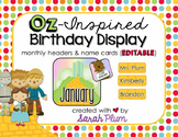 Wizard of Oz Inspired Birthday Display