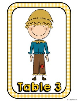 Wizard of Oz Inspired Table Numbers {Stick Figure Edition}