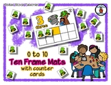 Wizard of Oz Inspired - Ten Frame Mats 0 to 10 & Counter Cards