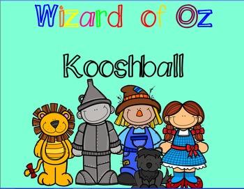 Wizard of Oz Kooshball game for SMARTboard