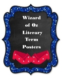 Wizard of Oz Literary Terms Posters: Character, Setting, S