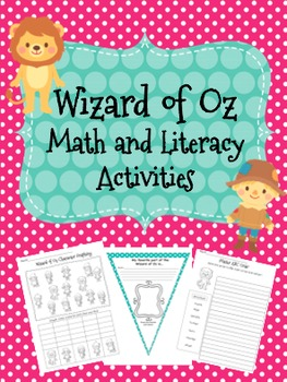 Wizard of Oz Math and Literacy Activities