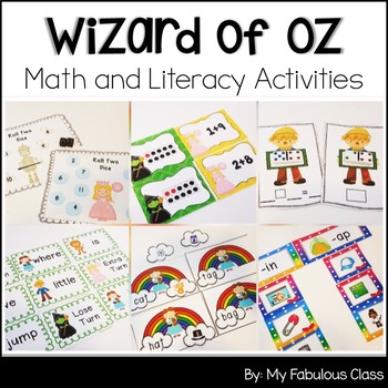 Wizard of Oz Math and Literacy Centers