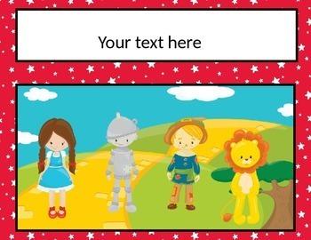 Wizard of Oz Mini Classroom Decor Pack {EDITABLE}