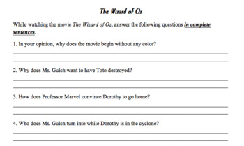 Wizard of Oz Movie Guide