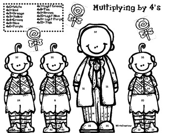 Wizard of Oz Multiplication x4's