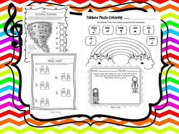 Wizard of Oz Musical Activities and Worksheets
