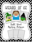 Wizard of Oz Mystery Picture using sight words