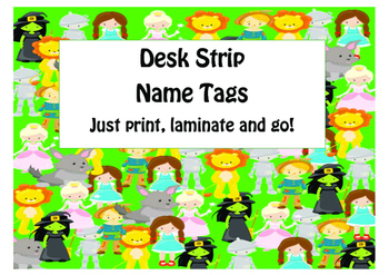 Wizard of Oz Name Tag Desk Strips