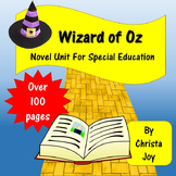 Wizard of Oz Novel Study for Special Education