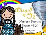 Wizard of Oz Number Practice Sheets 1-20